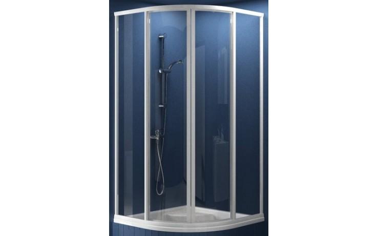 RAVAK SUPERNOVA SKCP4 SABINA 80 sprchovací kút 775-795x775-795x1700mm štvrťkruhový, znížený, posuvný, štvordielny biela / pearl 31144V10011