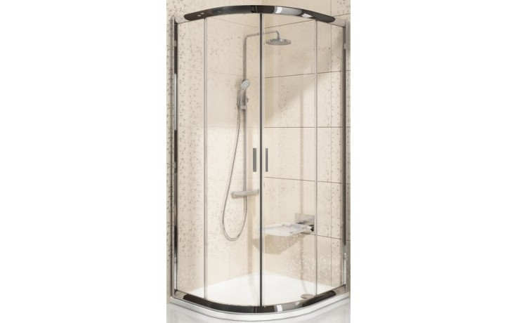 RAVAK BLIX BLCP4 80 sprchovací kút 775-795x775-795x190mm štvrťkruhový, posuvný, štvordielny satin / transparent 3B240U00Z1