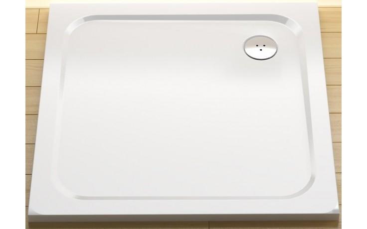 RAVAK PERSEUS PRO CHROME 100 sprchová vanička 1000x1000mm z liateho mramoru, plochá, štvorcová, biela XA04AA01010