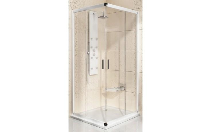 RAVAK BLIX BLRV2 90 sprchovací kút 875-890x875-890x1900mm rohový, posuvný, štvordielny bright alu / transparent 1LV70C00Z1