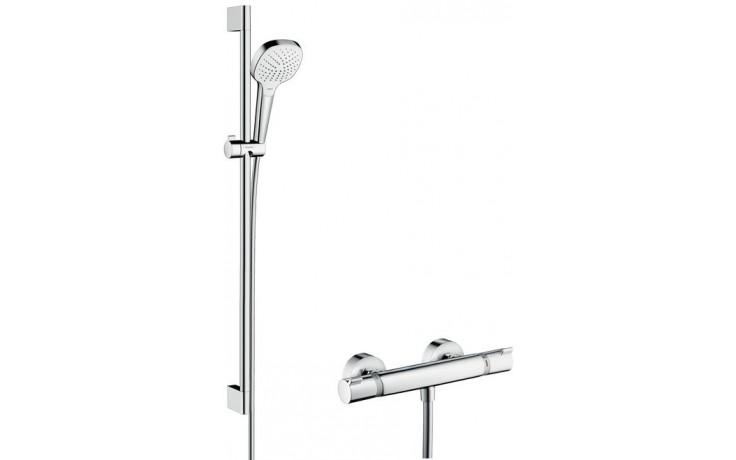 HANSGROHE CROMA SELECT E sprchová súprava Vario DN15 s termostatom, nástenná, biela-chróm