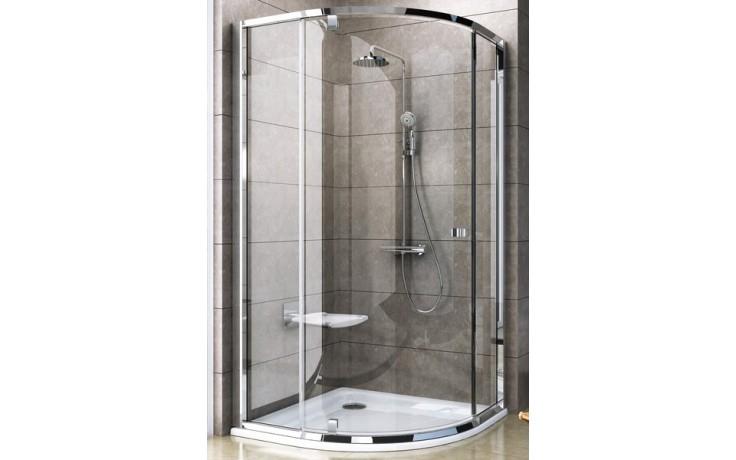 RAVAK PIVOT PSKK3 80 sprchovací kút 770-795x770-795x1900mm štvrťkruhový, biela / chróm / transparent 37644100Z1