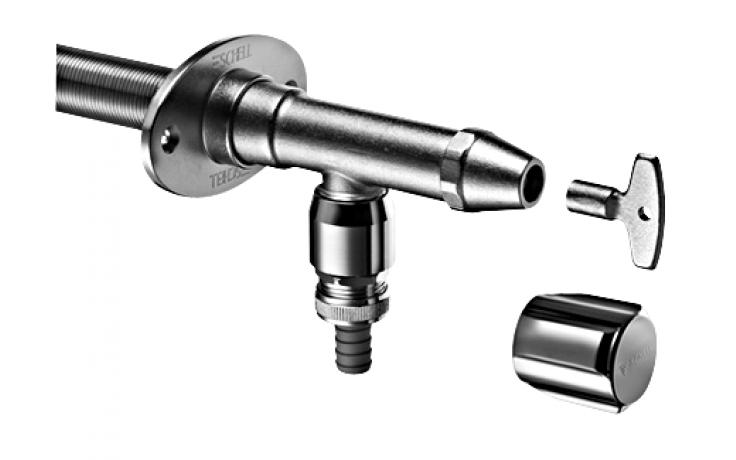 SCHELL POLAR II nezámrzný ventil DN15, vonkajší, set, bez privzdušňovača potrubia, chróm mat