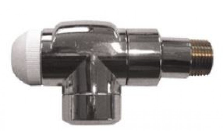 """HERZ TS-90 DE LUXE termostatický ventil 1/2"""" rohový, špeciálny, chróm"""