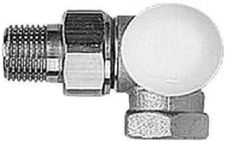 """HERZ TS-90-E-CD termostatický ventil 1/2"""" uhlový, pravý, bez prednastavenia"""