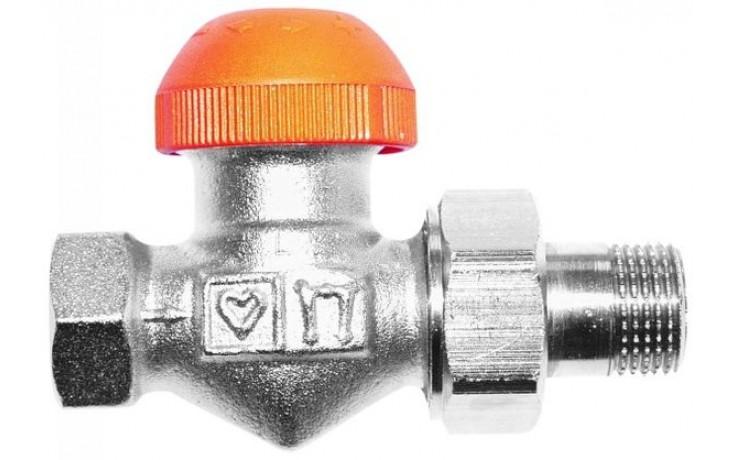 """HERZ TS-98-V termostatický ventil 3/4"""" priamy, s plynulým prednastavením a číselnou stupnicou"""