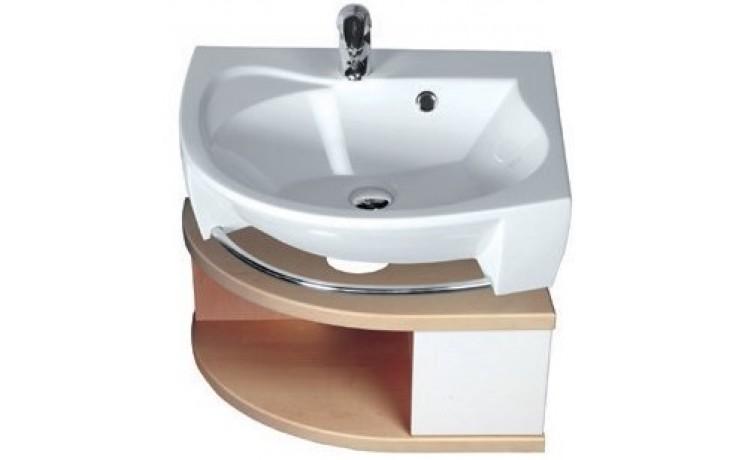 RAVAK ROSA SDU P skrinka pod umývadlo 560x400x240mm so zásuvkou, pravá, biela / biela X000000327
