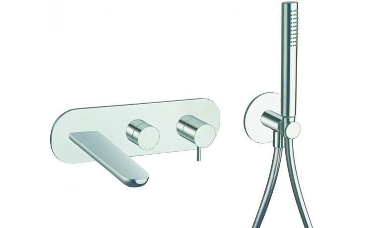 CRISTINA QUEEN vaňová batéria podomietková páková, vrchný diel, vrátane sprchy, chróm