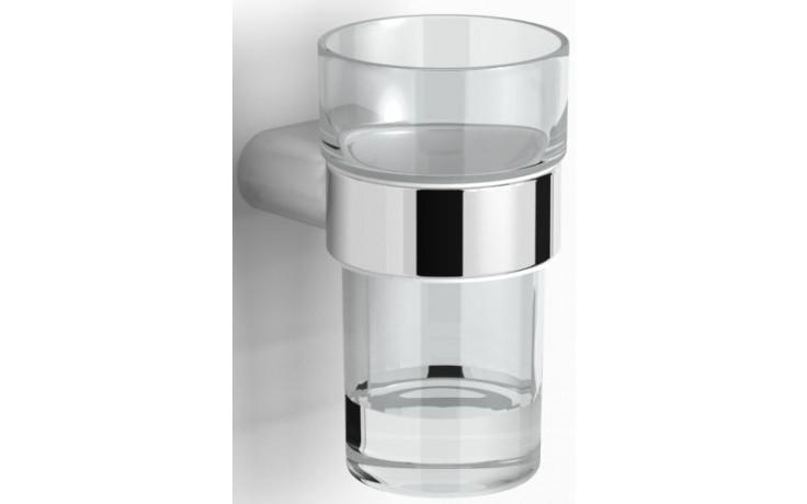 CONCEPT 200 STYLE držiak s pohárom 93x115mm chróm / sklo 010-7844