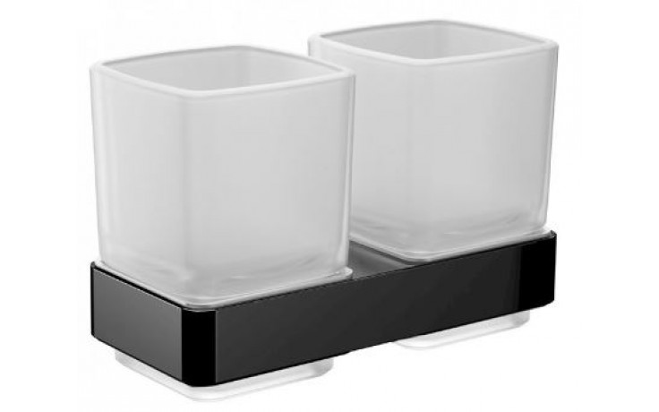 EMCO CONCEPT BLACK držiak s pohárom 74x97,25x113,6mm, sklo, čierna