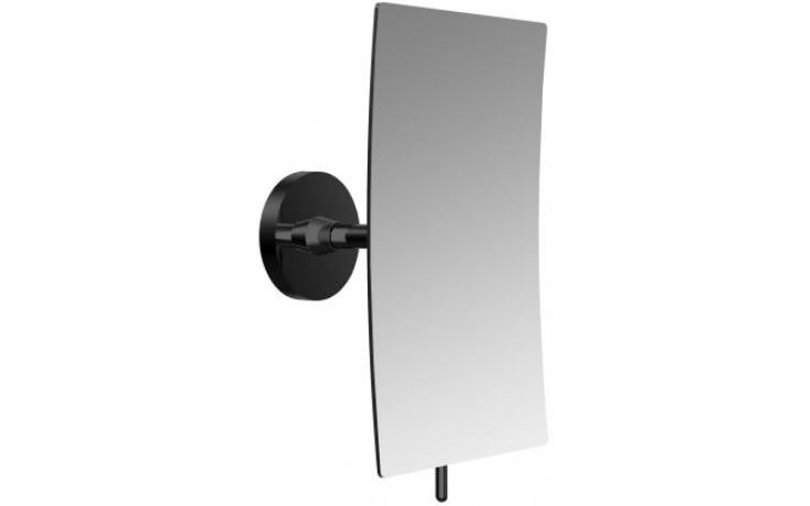 CONCEPT BLACK kozmetické zrkadielko 132x208mm, obdĺžnikové, 1 rameno, čierna