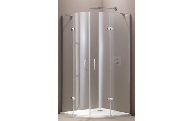 3c3531da106e9 HÜPPE AURA ELEGANCE sprchová zástena 900x900x1900mm strieborná matná/sklo  číre anti-plaque 400801.087.322