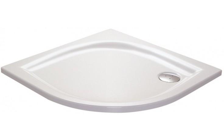RAVAK ELIPSO 80 LA sprchovacia vanička 800x800mm akrylátová, štvrťkruhová biela A224401210