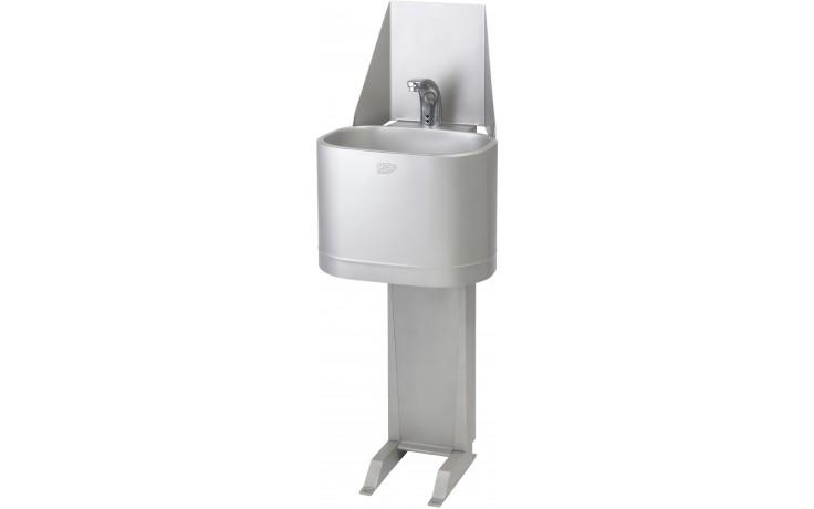 AZP BRNO AUM 06.E umývadlo 370x1150mm, s prietokovým ohrievačom, stojanové, nerez