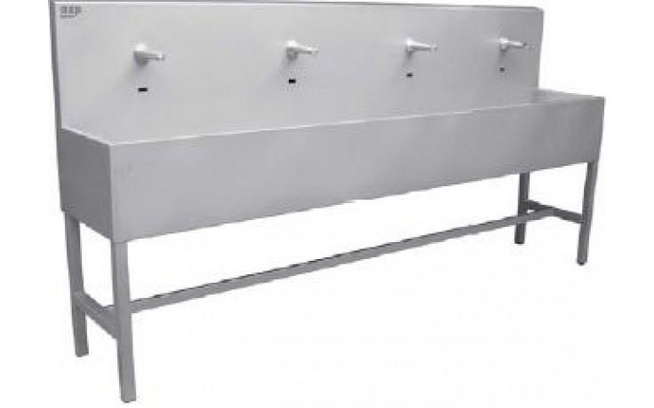 AZP BRNO AUL 03Z.2 umývací žľab 1900x1270mm, s výtokovými ramienkami, s termostatickým ventilom, závesný, nerez oceľ