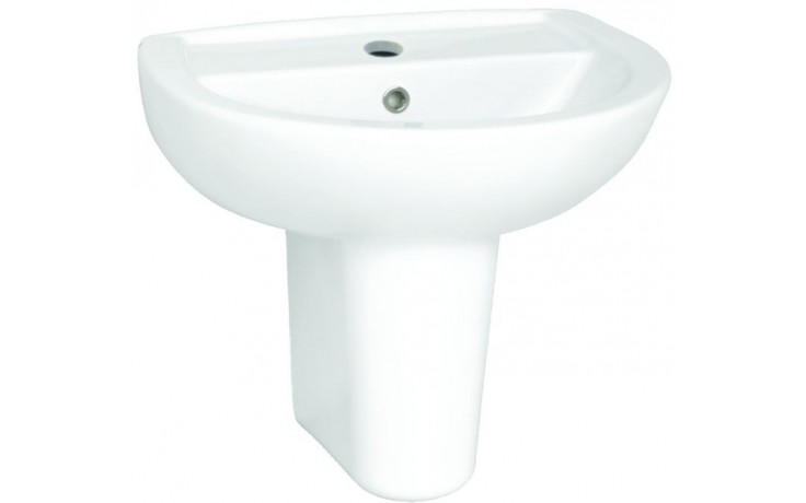 CONCEPT 100 klasické umývadlo 550x450mm s otvorom, biela alpin 5272L003-1121