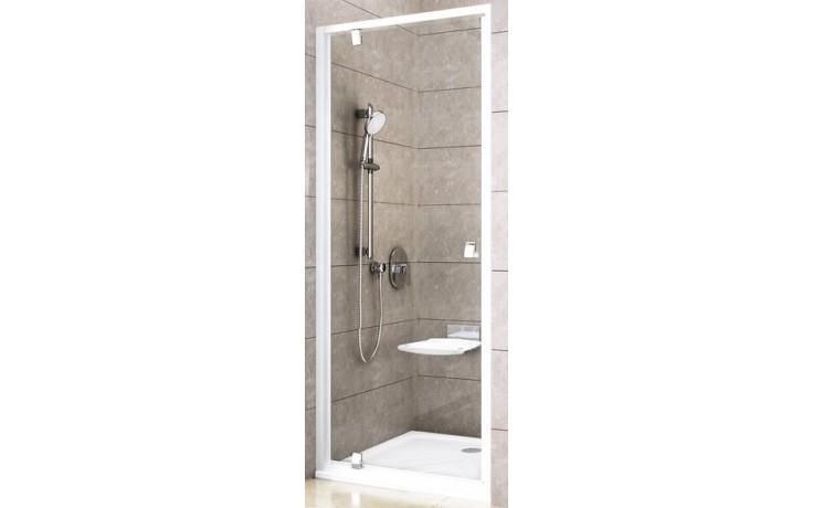 RAVAK PIVOT PDOP1 80 sprchové dvere 761x811x1900mm jednodielne, otočné, satin / transparent 03G40U00Z1