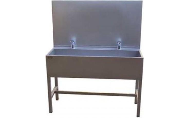 AZP BRNO AUL 02.3 umývací žľab 1900x1500mm, s výtokovými ramienkami, s termostatickým ventilom, nerez oceľ