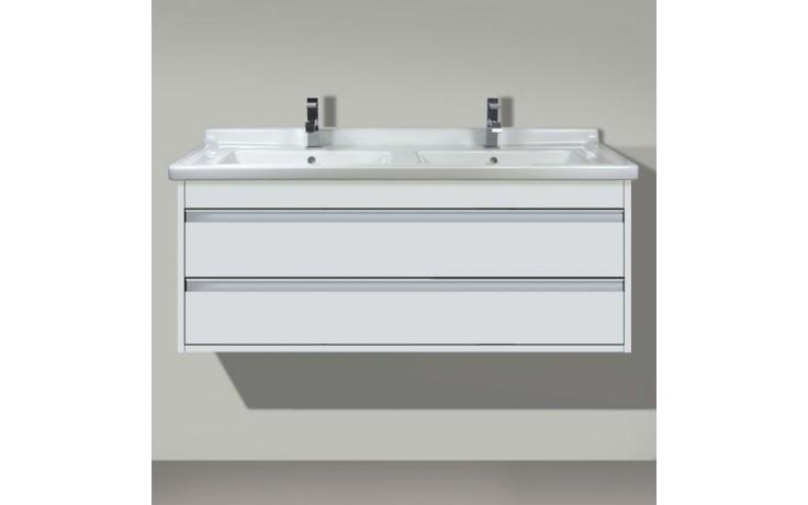 DURAVIT KETHO skrinka pod umývadlo 1200x465mm závesná, biela matná/biela matná KT664601818