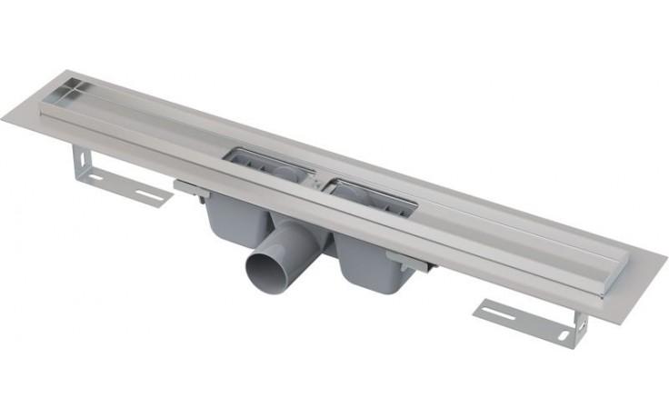 CONCEPT líniový podlahový žľab 950mm, s okrajom pre perforovaný rošt, nerez