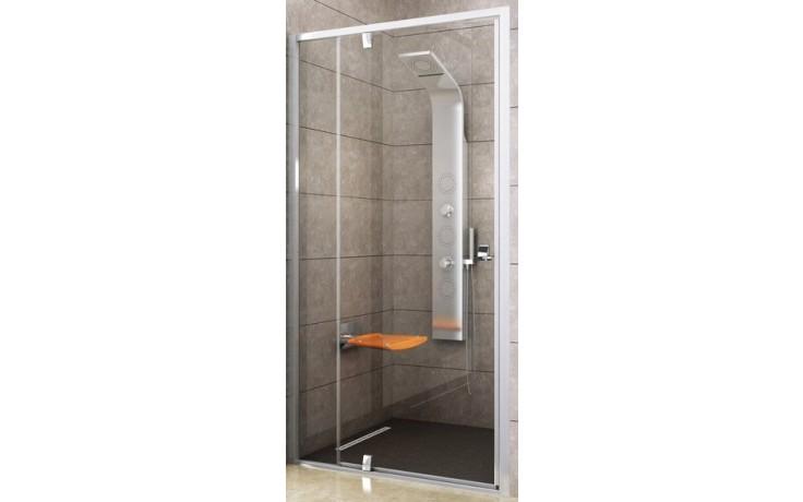 RAVAK PIVOT PDOP2 120 sprchové dvere 1161x1211x1900mm dvojdielne, otočné, pivotové satin / satin / transparent 03GG0U00Z1