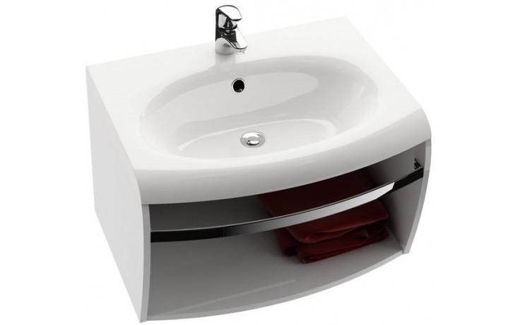 RAVAK EVOLUTION SDS skrinka pod umývadlo 700x550x400mm s hrazdou, biela / biela X000000364