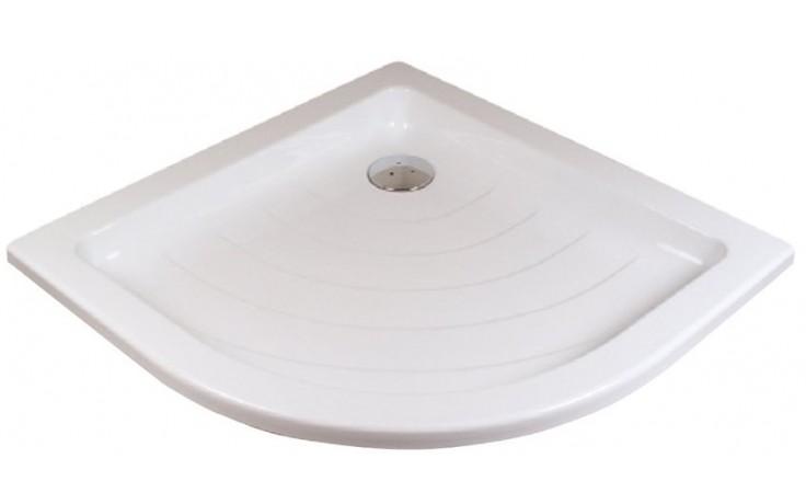 RAVAK RONDA 80 LA sprchovacia vanička 805x805mm akrylátová, štvrťkruhová biela A214001220