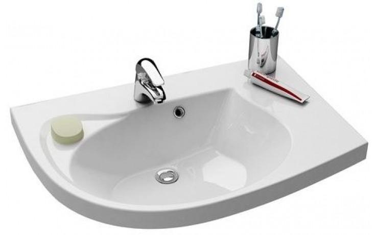 RAVAK ROSA COMFORT špeciálne umývadlo nábytkové 780x550x160mm z liateho mramoru, ľavé s otvorom, biela