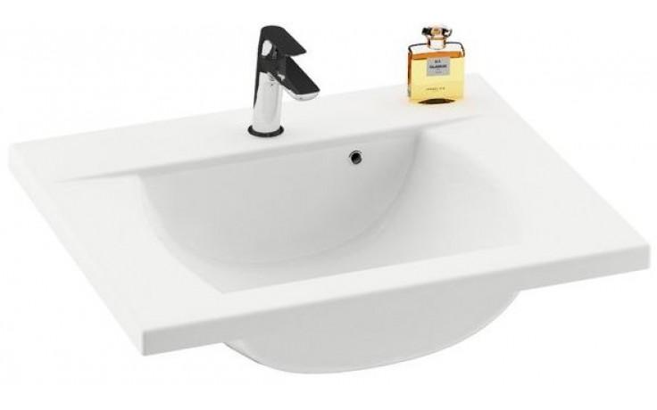 RAVAK CLASSIC 600 umývadlo nábytkové 600x490x207mm z liateho mramoru, biela XJD01160000