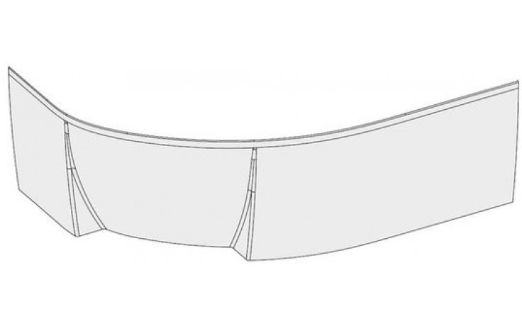 RAVAK ROSA II P panel 1700x565mm pravý, biela
