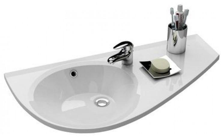 RAVAK AVOCADO špeciálne umývadlo nábytkové 850x450x124mm z liateho mramoru, pravé s otvorom, biela