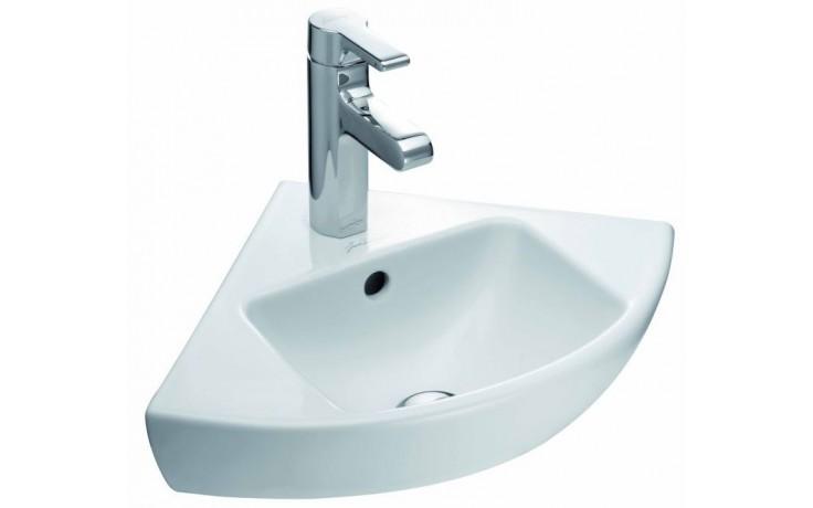 KOHLER REACH rohové umývadlo 340x340mm s otvorom, white 18561W-00