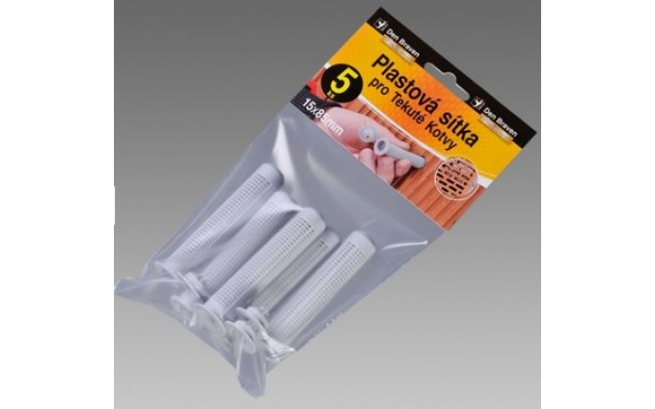 DEN BRAVEN plastové sitká Ø15x85mm, pre kotvenie do dutých materiálov, v blistri