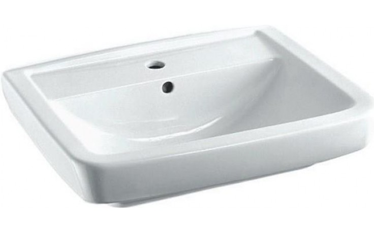 CONCEPT 100 STYLE klasické umývadlo 600x470mm s otvorom, biela alpin 5276L003-1121