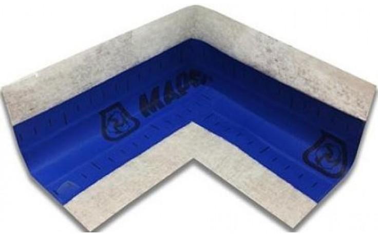 MAPEI MAPEBAND pogumovaná páska, vnútorný roh 90, modrá