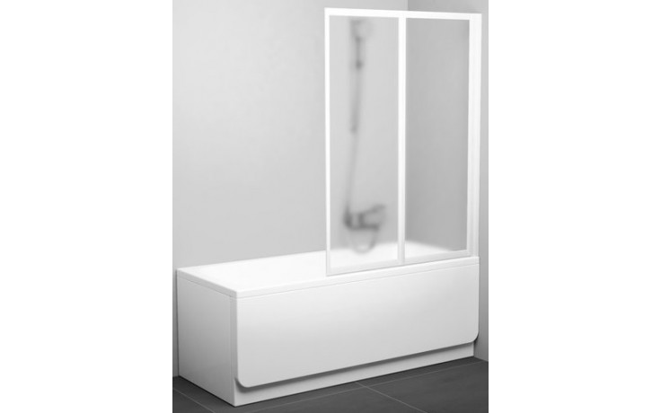 RAVAK VS2 vaňová zástena 1045x1400mm dvojdielna, skladacia biela / transparent 796M0100Z1
