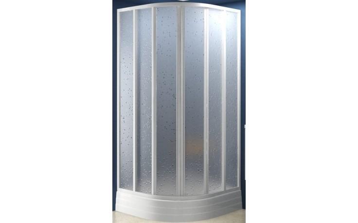 RAVAK SKKP6-80 sprchový kút 775x795x1850mm štvrťkruhový, posuvný, šesťdielny, biela / grape 32040100ZG