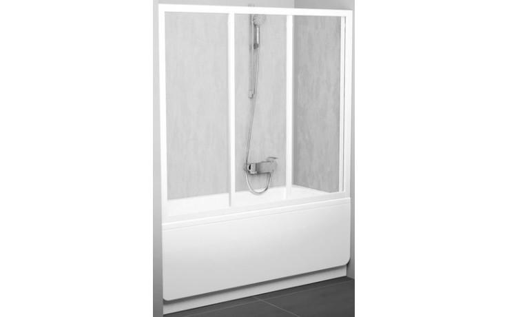 RAVAK AVDP3 170 vaňové dvere 1670-1710x1380mm trojdielne, posuvné, biela / grape 40VV0102ZG