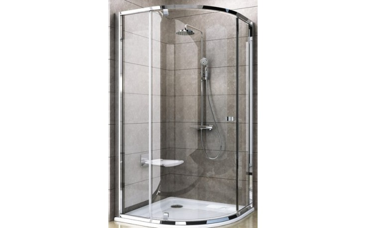 RAVAK PIVOT PSKK3 100 sprchovací kút 970-995x1900mm štvrťkruhový, biela / chróm / transparent 376AA100Z1