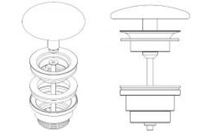 LAUFEN odpadový ventil s keramickou krytkou