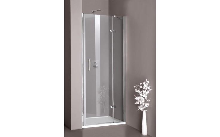 CONCEPT 300 sprchové dvere 800x1900mm krídlové, ľavé, strieborná lesklá/číra AP