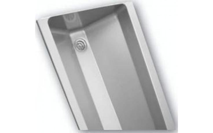 AZP BRNO AUL 05.2 umývací žľab 1900x400mm, s guľatými vnútornými rohmi, závesný, nerez oceľ