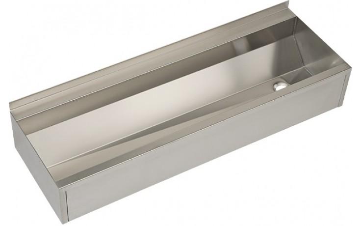 SANELA SLUN10P umývací žľab 1250mm, hranatý, opláštenie, nerez mat