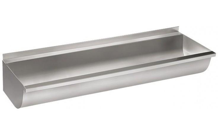 SANELA SLUN10K umývací žľab 1250mm, zaguľatený, neopláštený, nerez mat