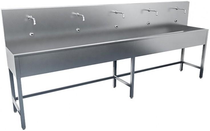 SANELA SLUN50E žľab 1250mm, na nohách, dve elektroniky, nerez