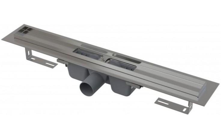 CONCEPT 100 podlahový žľab 810mm s okrajom, pre perforovaný rošt, nerez