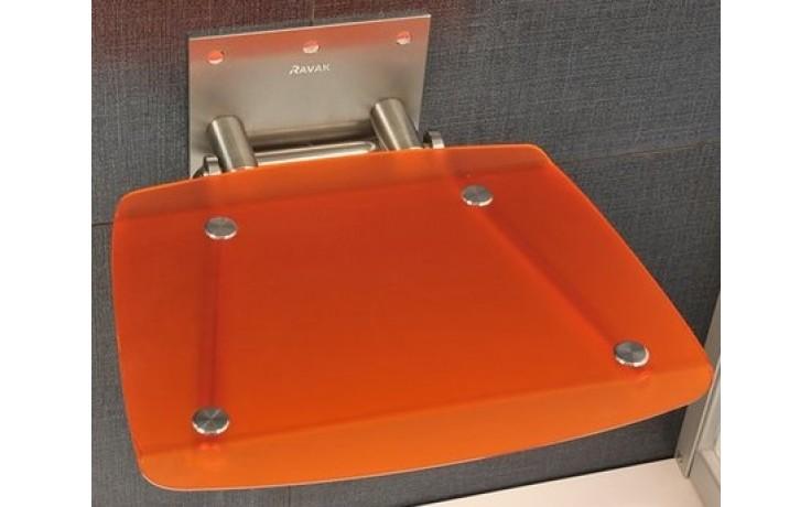 RAVAK OVO B sedátko 360x360x130mm do sprchovacieho kúta, sklopné, orange B8F0000017
