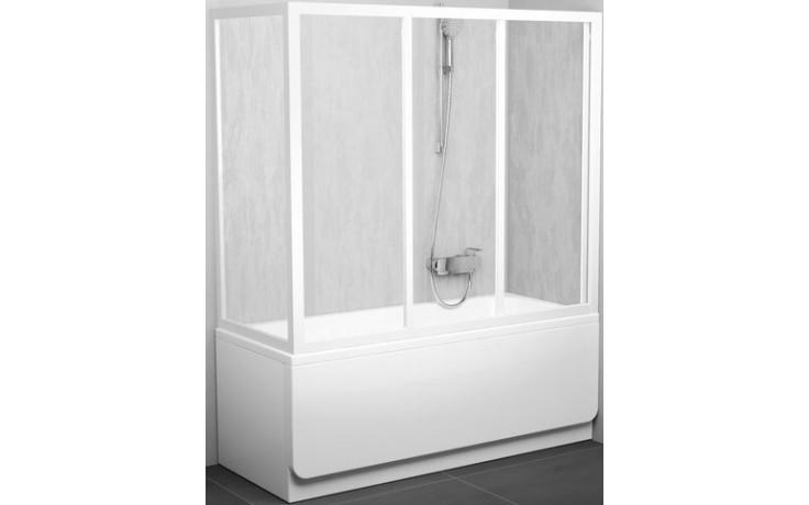 RAVAK APSV 75 vaňová stena 720x755x1370mm biela/transparent
