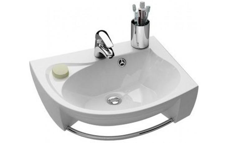 RAVAK ROSA špeciálne umývadlo nábytkové 566x466x150mm z liateho mramoru, ľavé s otvorom, biela