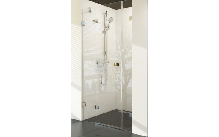 RAVAK BRILLIANT BSD3 120 sprchové dvere 1185x1210x1950mm trojdielne, pravé chróm/transparent